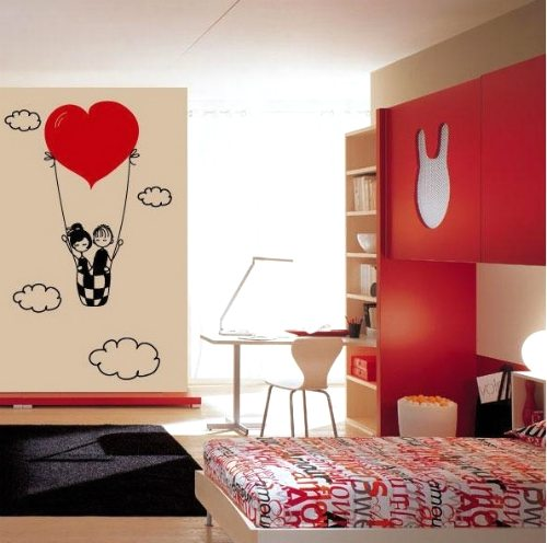 Ideas para decorar con vinilos for Vinilos pared dormitorio