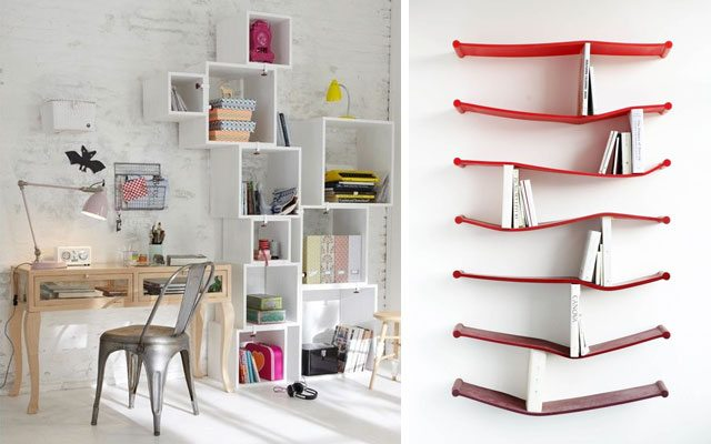 Estanter as modernas para vestir tus paredes - Casas decoradas con ikea ...