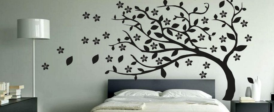 Ideas para decorar con vinilos - Pegar vinilo en pared ...